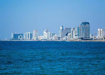 Photograph - Tel Aviv Skyline In Blue by Eliza Donovan