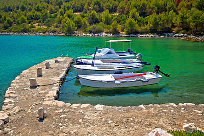 Photograph - Telascica Bay On Dugi Otok Island Boats by Brch Photography
