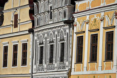 Photograph - Telc Facade #2 - Czech Republic by Stuart Litoff