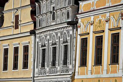 Photograph - Telc Facade #2 - Czech Republic by Stuart Litoff