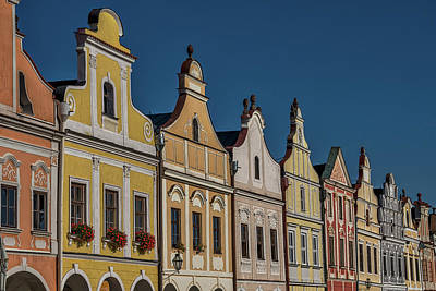 Photograph - Telc Facade #3 - Czech Republic by Stuart Litoff