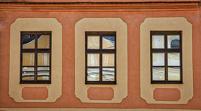 Photograph - Telc Window Reflections - Czechia by Stuart Litoff