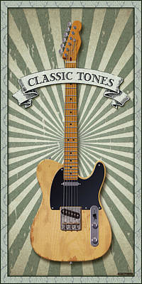 Digital Art - Telecaster Classic Tones by WB Johnston