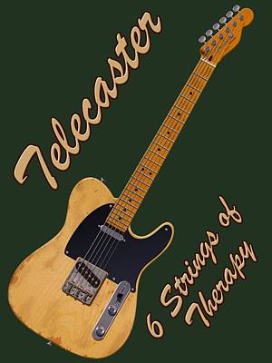 Photograph - Telecaster Therapy T-shirt by WB Johnston