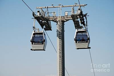 Photograph - Teleferic Cable Cars In Barcelona by David Fowler
