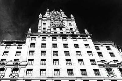 Photograph - Telefonica Building Facade Madrid by John Rizzuto