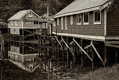 Photograph - Telegraph Cove Houses - 365-103 by Inge Riis McDonald