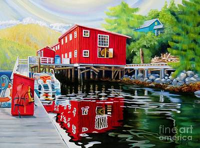 Painting - Telegraph Cove Staycation by Elissa Anthony