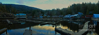 Photograph - Telegraph Cove Sunset Panorama by Adam Jewell