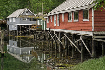 Photograph - Telegraph Cove - Wooden Houses by Inge Riis McDonald
