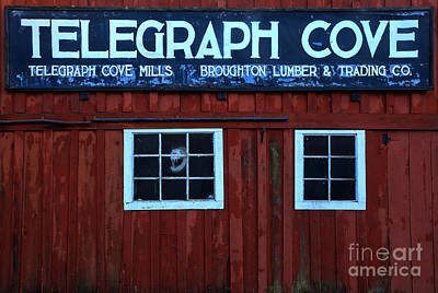 Photograph - Telegraph Cove Wooden Sign by Adam Jewell