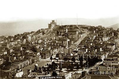 Photograph - Telegraph Hill And Washington Square.  Circa 1890 by California Views Mr Pat Hathaway Archives