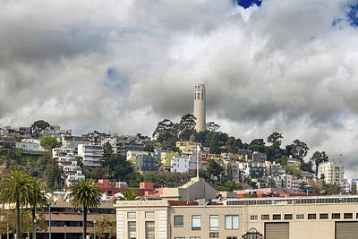 Photograph - Telegraph Hill Neighborhood Homes In San Francisco by David Gn