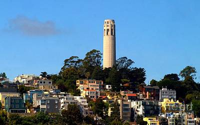 Photograph - San Francisco Coit Tower And Telegraph Hill In California by Michael Hoard