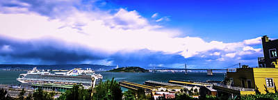Tour Bus San Francisco Photograph - Telegraph Hill View by Phil Fitzgerald
