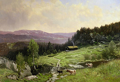Norway Painting - Telemark South Norway by Ludvig Skramstad