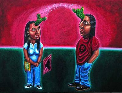 Telepathy Painting - Telenopalepathy by Mario Chacon