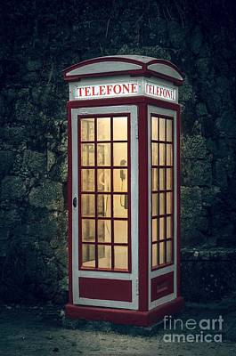 Telephone Booth Art Print by Carlos Caetano