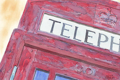 Painting - Telephone Booth by Ken Powers