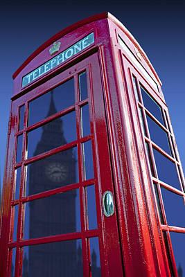 Telephone Box & Big Ben Art Print
