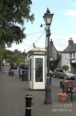 Photograph - Telephone Box In Enniskerry Village, County Wicklow, Ireland by Doc Braham