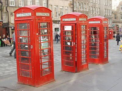 Winter Animals - telephone Boxes in Edinburgh by Terry Cathrine