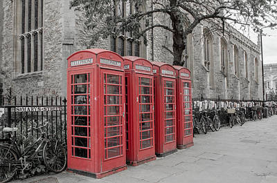 Photograph - Telephone Boxes by Shanna Hyatt