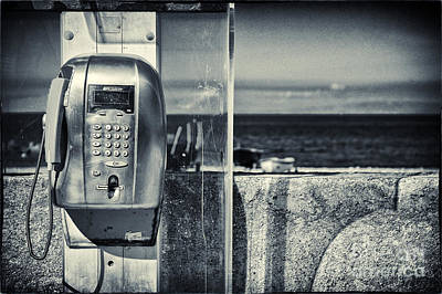 Telephone By The Sea Art Print by Silvia Ganora