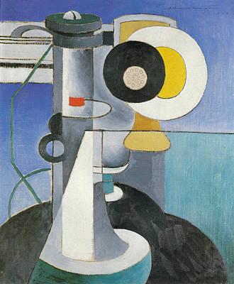 Painting - Telephone by Morton Livingston Schamberg