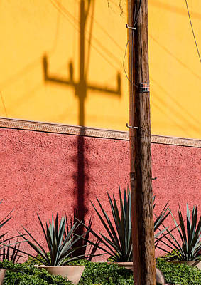 Photograph - Telephone Post And Shadow. by Rob Huntley