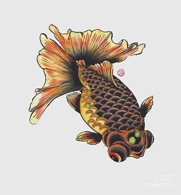 Telescope Goldfish Print by Shih Chang Yang