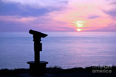 Photograph - Telescope Sunset by Terri Waters