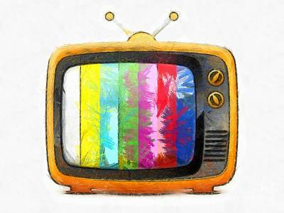 Digital Art - Television Pencil by Edward Fielding