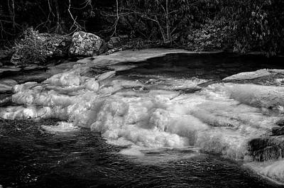 Winter Photograph - Tellico Ice In Black And White by Greg Mimbs