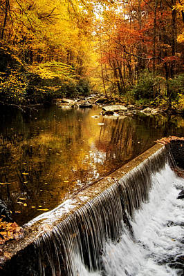 Autumn Photograph - Tellico Spillway In Fall by Greg Mimbs