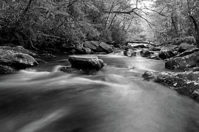 Rock Photograph - Tellico Waters In Black And White by Greg Mimbs