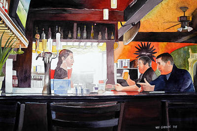 Snack Bar Painting - Tellin' It Like It Is by Bill Gibson