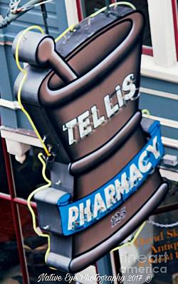 Wall Art - Photograph - Tellis Pharmacy/ King Street by Lisa Marie Towne