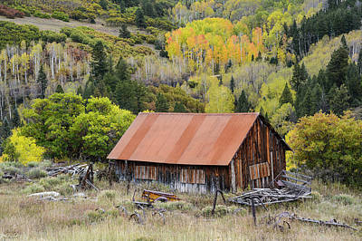 Photograph - Telluride Barn by Aaron Spong