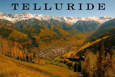 Telluride Colorado Art Print by David Lee Thompson