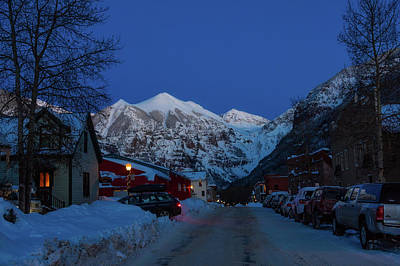 Photograph - Telluride Colorado Neighborhood At Sunset by L O C