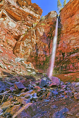 Telluride, Colorado's Cornet Falls - Colorful Colorado - Waterfall Art Print by Jason Politte