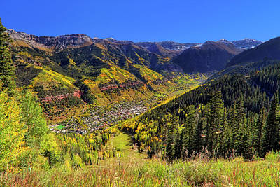 Art Print featuring the photograph Telluride In Autumn - Colorful Colorado - Landscape by Jason Politte