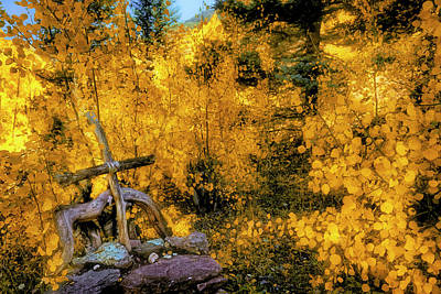 Photograph - Telluride Spirituality - Colorado - Autumn Aspens by Jason Politte