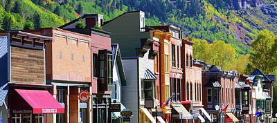 Photograph - Telluride Town Store Fronts by David Lee Thompson