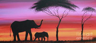 Masai Painting - Tembo by Abu Artist