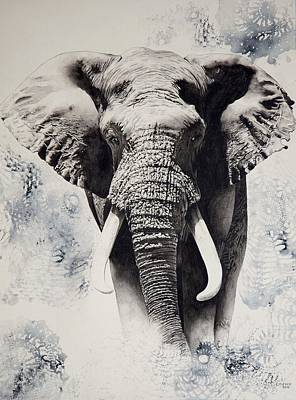Animals Painting - Tembo by Cherie Tucker