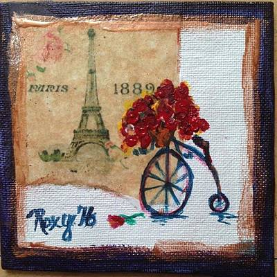 Transportation Painting - Roses In Paris by Roxy Rich