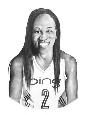 Drawing - Temeka Johnson by Devin Millington