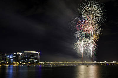 Photograph - Tempe Fireworks 2015-1 by Paul Riedinger